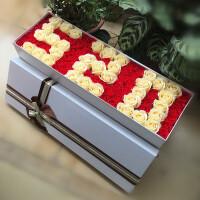 520永生花仿真玫瑰花束香皂花礼盒礼物送女友情人节礼物