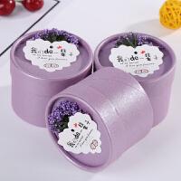 创意 糖盒 结婚喜糖盒子欧式个性婚礼小礼盒装糖用的盒包装 紫盒 薰衣草 卡片 小号一组(50个糖盒)