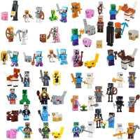 兼容乐高我的世界拼装玩具积木人仔小人偶全套钻石史蒂夫附魔武器