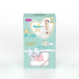 [当当自营]帮宝适 日本进口一级婴儿拉拉裤 中码M58片(6-11kg) 礼盒限量装