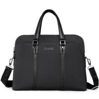 男士公文包手提包横款时尚电脑包休闲单肩包