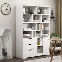 【爆款】书架简约落地客厅收纳柜经济型卧室学生家用简易带柜门书柜置物架
