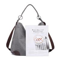 大包包女包2018新款帆布包手提单肩包斜挎包大容量简约休闲妈妈包
