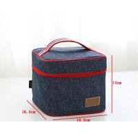 带饭包牛津布保温保冷饭盒袋午餐包便当包手提妈咪桶包小学生日本 001方包