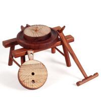 实木质风车模型家居风水摆件红木雕刻古典家具工艺品装饰品