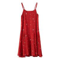 【1件3折价:68.7】美特斯邦威吊带连衣裙2019新款夏女很仙的法国小众桔梗裙森系裙子