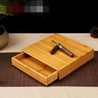 普洱茶盒茶叶罐茶刀茶具茶针茶锥茶饼架子工具竹制分茶盘茶道配件 jn2孟宗竹茶盒 普洱茶盒