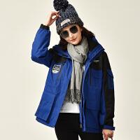 户外冲锋衣男女三合一两件套防风滑雪登山服