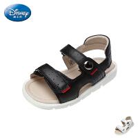 迪士尼Disney童鞋2018新款儿童凉鞋简约时尚男女童休闲鞋舒适米奇头夏季沙滩凉鞋(5-10岁可选) S73051