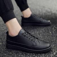 秋季男士休闲系带小皮鞋韩版潮流青年男鞋英伦布洛克正装商务潮鞋