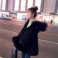 短款羽绒服女冬装宽松显瘦大毛领派克服小款外套