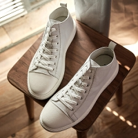 【2件2.5折]唐狮夏季男士男鞋休闲韩版鞋潮流板鞋小白鞋学生帆布鞋英伦港风鞋