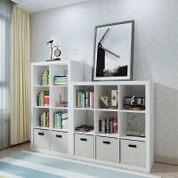 自由组合格子柜简易儿童书架书柜 多功能储物收纳柜子落地置物架