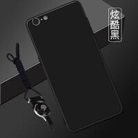 苹果6plus手机壳女款 潮流A1524带支架iphone6splus软壳六pl男生 炫酷黑 送支架+挂绳