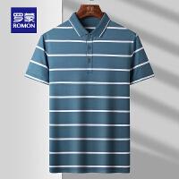 【2折预估到手价:128叠券更优惠】罗蒙男士短袖T恤2021夏新款休闲时尚上衣百搭POLO衫