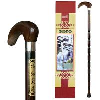 实木拐杖 老人手杖防滑木质拐棍