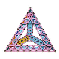 方圆木玩男女孩创意磁力棒玩具 儿童益智几何教育比赛拼搭磁性积木