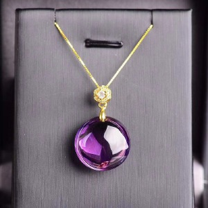 *天然巴西紫水晶吊坠