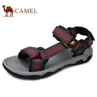 camel 骆驼户外春夏情侣款沙滩凉拖鞋男女透气魔术贴凉鞋涉水溯溪鞋