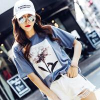 【1件3折:54元】韩都衣舍2019夏装新款女装韩版宽松印花上衣学生短袖T恤NW11807�S