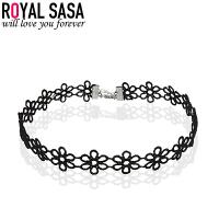 皇家莎莎日韩时尚颈链蕾丝女手工项圈颈链简约原宿项链女脖链颈圈