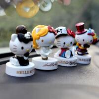 HelloKitty公仔可爱KT猫车饰摆件汽车内饰品用品摆件装饰玩偶 一套5款 +胶片