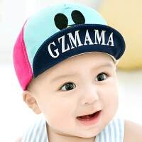 婴儿帽子0-3-6-12个月棒球帽秋冬1-2岁男童女宝宝鸭舌帽潮遮阳帽 以宝宝头围为准