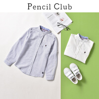 【3件2折:49.8】铅笔俱乐部童装2020春装新款男童翻领衬衫中大童长袖上衣儿童衬衫