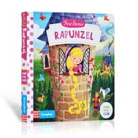 英文原版First Stories: Rapunzel 长发公主 操作活动纸板书带机关 Busy系列 儿童童话故事绘本