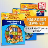正版 老鼠记者阅读理解练习册3本 英文原版 Geronimo Stilton Academy Comprehension Pawbook 进口小学趣味故事学习书 英文版