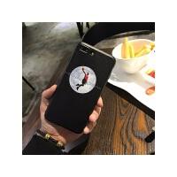 篮球飞人标志手机壳苹果6SPlus软保护套男全包边磨砂潮 真人飞人 全软黑边蚕丝纹