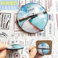 马尔代夫印度尼西亚冰箱贴磁贴创意立体旅游纪念品斯里兰卡定制 马尔代夫 圆款 中