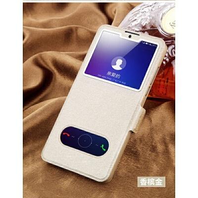 优品三星s6edge+翻盖手机壳Galaxy s4/s5/s6防摔皮套s6edge全包保护套 双开窗皮套、全包防摔免翻盖接听