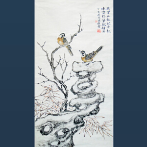 清华美院    冯维智   残雪压枝犹有枝   /210