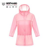 诺诗兰2018春夏新品防晒皮肤衣户外女防紫外线UPF40+风衣GL072204
