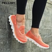 【保暖节-狂欢继续】法国PELLIOT户外健步鞋男女 防滑运动鞋轻便营地鞋耐磨徒步登山鞋