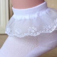 女童公主袜夏款蕾丝花边舞蹈袜白色网眼薄款儿童袜子学生短袜