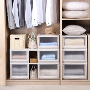 日本天马优妮特抽屉式收纳箱组合衣柜衣物整理箱塑料储物盒特大号