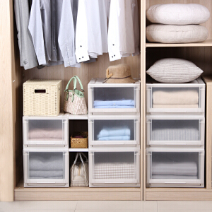 Tenma日本天马株式会社优妮特抽屉式收纳箱组合衣柜衣物整理箱塑料储物盒特大号