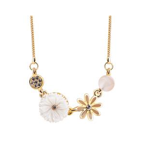 新年礼物Mbox项链 女款韩国版原创采用波西米亚风元素小清新锁骨项链 暗香