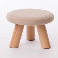 家逸布艺休闲实木凳沙发凳脚凳换鞋凳松木小板凳
