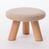 【包邮】 家逸实木凳子小凳子 布艺沙发凳圆凳 小板凳 小凳子实木餐凳蘑菇凳椅子电脑椅