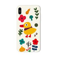 苹果x手机壳iPhone8软7plus硅胶xs小黄鸭6s卡通max可爱萌5全包xr 苹果6/6s 小花小黄鸭