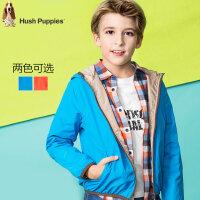 暇步士童装男童棉服冬新款中大男童连帽夹克儿童保暖外套防风上衣