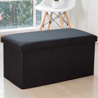 换鞋凳储物凳沙发凳可坐布艺简约收纳鞋架板凳可折叠玩具箱小沙发 长方形-110升76*38*38cm