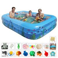 家用小孩充气游泳池家庭大号水池加厚婴幼宝宝充气戏水池成年人浴缸海洋球池加厚