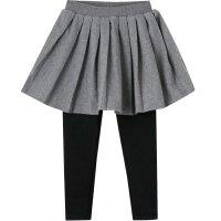 【2件2.5折到手价:55】美特斯邦威旗下moomoo童装女童裤子新款冬季假两件加绒韩版中大儿童针织长裤
