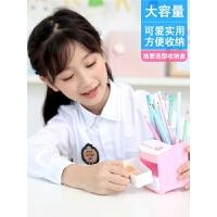 得力笔筒儿童多功能笔桶创意个性时尚 韩国小清新可爱文具用品桌面 摆件笔筒男女学生收纳盒办公用品组合笔盒