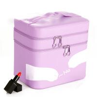 大号护肤化妆品多层收纳盒  双层手提化妆箱  化妆包  可爱小方包