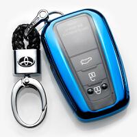 2018款丰田普拉多真皮钥匙包汽车钥匙扣壳保护套汽车装饰品